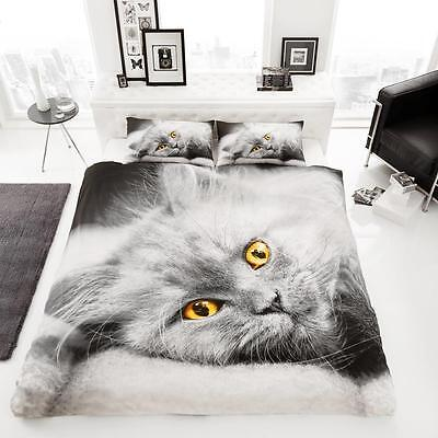 New Cat's Kitten Animal Printed Duvet Quilt Cover Bedding Sets With Pillowcases