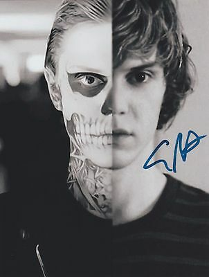 """American Horror Story Evan Peters """"Tate Langdon"""" EXTREMELY RARE SIGNED RP 8x10!!"""