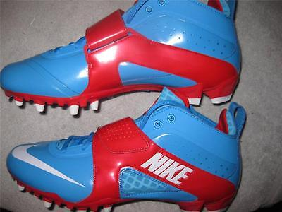 Nike Huarache III 3 LAX TD Lacrosse Football Cleats Various Sizes Blue Glow/ Red