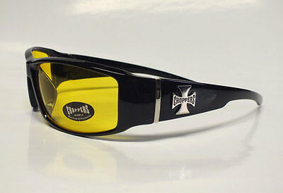 CHOPPERS Night Driver Sonnenbrille Bikerbrille Biker Iron Cross Motorrad