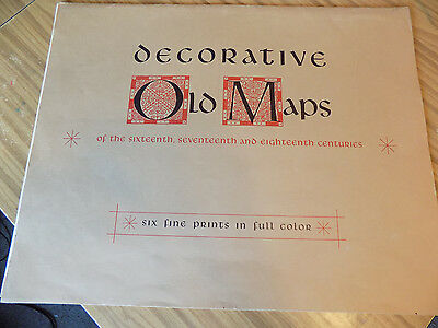 """Decorative  OLD MAPS  - 16th, 17th, 18th Centuries 20x16"""" Set of 6 Prints +1"""
