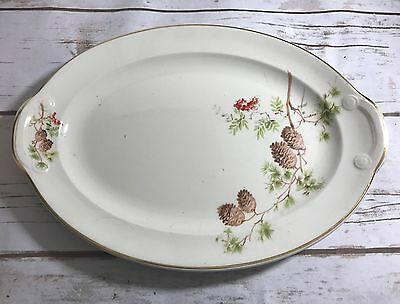 TAYLOR SMITH TAYLOR  PINE CONE & BERRIES Serving Plate