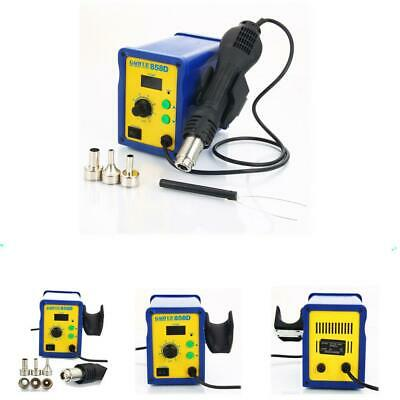 858D SMD Electric ESD Rework Soldering Station Hot Air Gun Desoldering Kit 110V