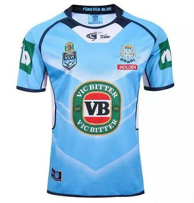 New 2016 NSW Blues Holden rugby jersey rugby shirt T Shirt tee SIZE: S-3XL