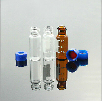 100 Pcs/pk Sample Vial 2ml Amber Vial 9-425 Screw Top Graduated With Writing Are