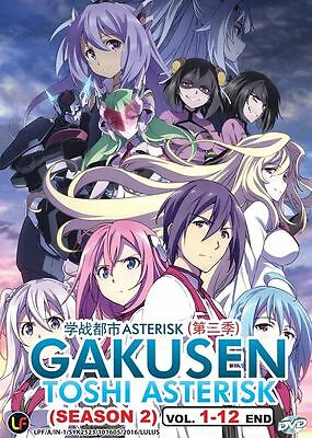 DVD Gakusen Toshi Asterisk Season 2 Chapter 1 - 12 End Anime Box set English Sub