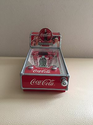 Coca Cola Pinball Machine Musical Bank Mint Enesco 1998