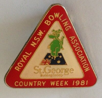 St George Dragon 1981 Country Week Bowling Club Badge Rare Vintage (M4)