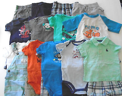 Used 23 Pc. Lot Of Baby Boy Clothes 6-9 Months Euc/vguc