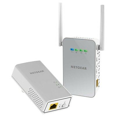 Netgear PLW1000 PowerLine Ethernet Network Adapter+WiFi Range Extender Booster