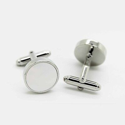 Stainless Steel & Mother of Pearl Cufflinks