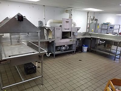 Hobart C-54 Commercial Dishwasher - Booster Heater, Clean & Dirty Dish Tables