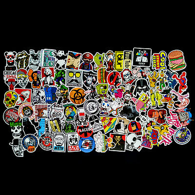 AU 100Pcs Sticker Bomb Decal Vinyl Roll for Car Skate Skateboard Laptop Luggage