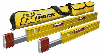 "STABILA 79248 Package 2 XTL Levels  26""- 40"" & 48""-79"" w/ Go Pack Case"