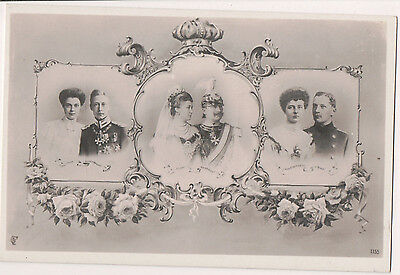 Vintage Postcard Kaiser Wilhelm II, Empress Augusta of Germany & Family