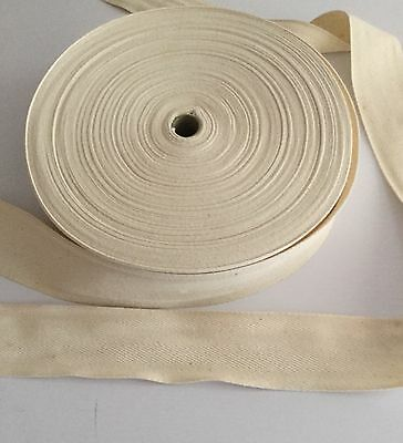 50mt Roll Cotton Webbing Tape 50mm natural