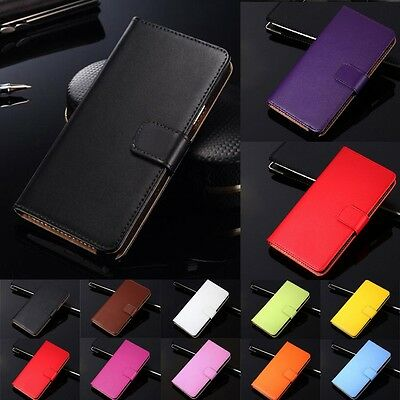 Luxury Genuine Leather Flip Case Wallet Cover For Samsung Galaxy Mega 6.3 i9200