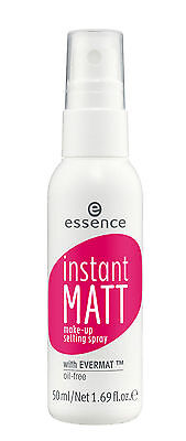 Essence Instant MATT Make-Up Setting Spray with Natural Complex Ingredients 50ml