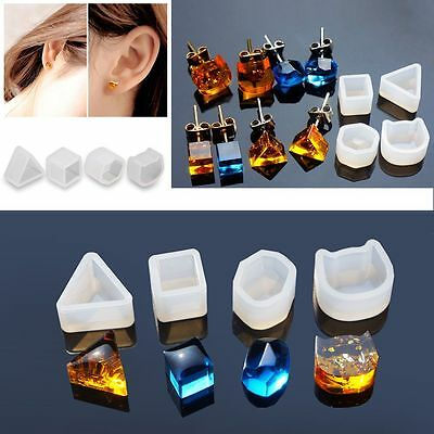 New Silicone Earring Mold Mould For Epoxy Resin Flower Herbarium Jewelry Tools