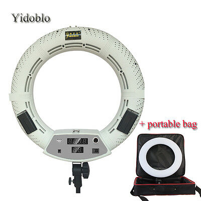 Yidoblo FD-480II 96W LED Ring Light Continuous Lighting For Video Studio w/ Bag