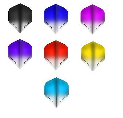 Target Vision Fade  Standard Dart Flights  Choice Or Colours