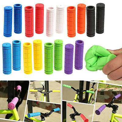 1 Pair Soft Durable Rubber BMX Mountain Bike Bicycle Non-slip Handlebar Grips