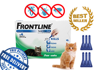 FRONTLINE Spot On For Cats, 6 Pipettes, Anti Fleas, Ticks, Lice Kitten Care