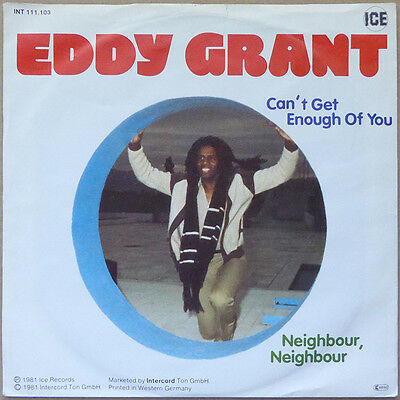 """7"""" Eddy Grant - Can't Get Enough Of You - Deutschland 1982 - NM"""