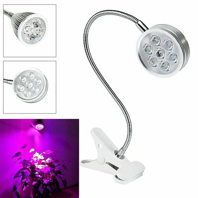 5/7W LED RBW Grow Light Desk Flexible Clip On Clamp Lamp Hydroponic Plant Indoor
