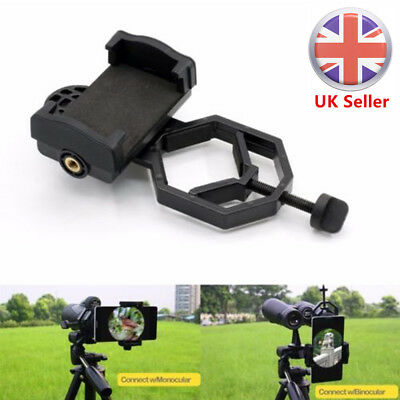 Universal Cell Phone Adapter Holder Mount Microscope Telescope Spotting Scope UK