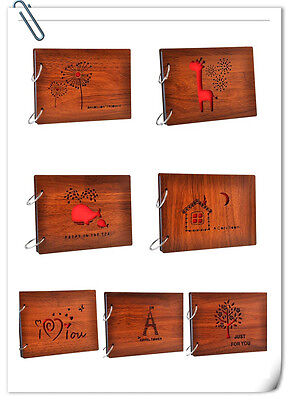 """8"""" DIY Scrapbook Vintage Photo Album Wooden Picture Photograph for Mother's Day"""