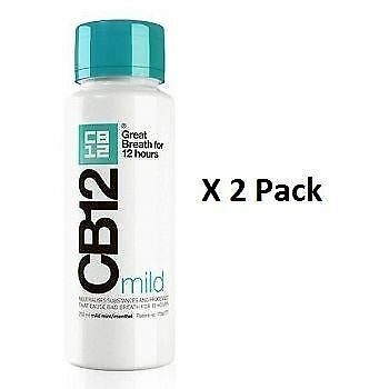 CB12 Mild Mint Menthol Mouthwash 250ml x 2 Pack