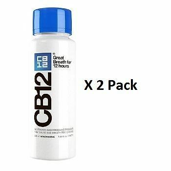CB12 Mint Menthol Mouthwash 250ml x 2 Pack