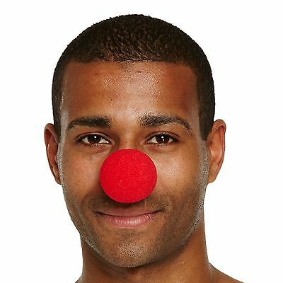 Red Nose Day Comic Releif Nose Sponge Clown Costume Fancy Dress Accessory Joke