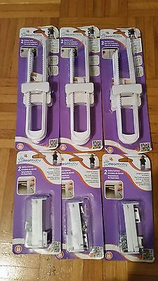 NEW & SEALED Dreambaby  Sliding Lock (6) and Safety Catches (6)