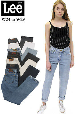 Lee Jeans Womens Vintage High Waisted Mom Boyfriend W 24 25 26 27 28 29 Grade A
