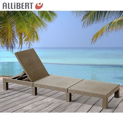 gartenliege daytona sonnenliege liege polyrattan flechtoptik allibert rattan eur 84 99. Black Bedroom Furniture Sets. Home Design Ideas