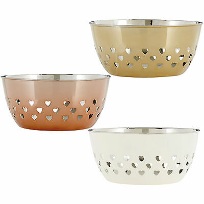 20cm Stainless Steel Hearts Design Fruit Bowls Stainless Steel Storage Container