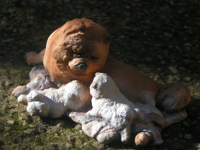 Chow Chow Dog Family from Hevener Figurines
