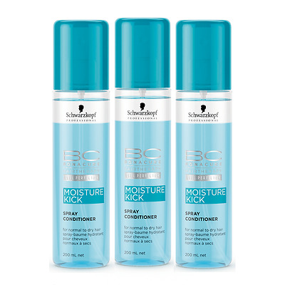 3stk.Schwarzkopf BC Moisture Kick Spray Conditioner 200x3=600ml (100ml/3,32euro)