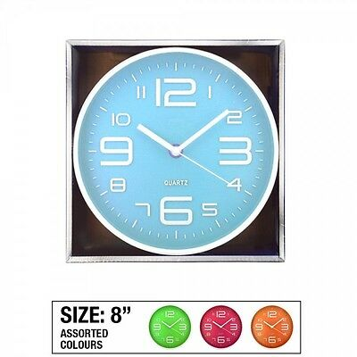 Round Square Vintage Style Wall Clock Hanging Quartz Large Digit Number Analogue
