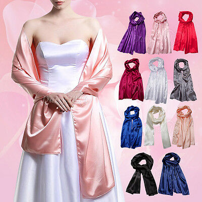 Womens Silky Satin Wrap Stole Shawl For Weddings Bridal Bridemaids Evenings Wear