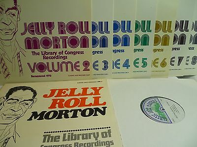8 LP´s, Jelly Roll Morton, The Library Of Congress Recordings Volume 1 - 8