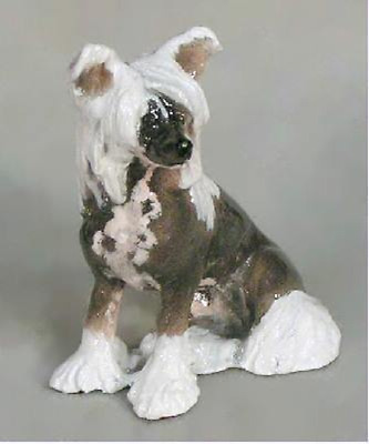 Chinese Crested Dog From Hevener Figurines
