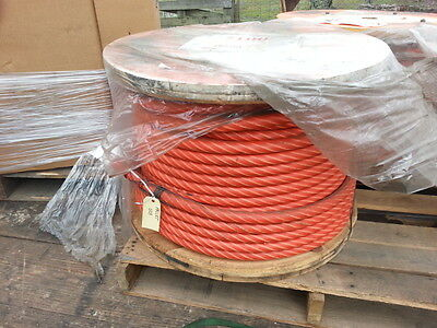 """Wireco World Group 1"""" X 230' Wire Rope 6X36 Iwrc Tuffkote Open Swage Skt One End"""