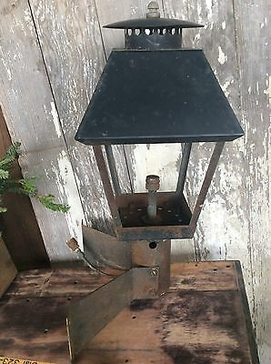 Antique Salvaged Outside Gas Light , Mounting Bracket Porch Light