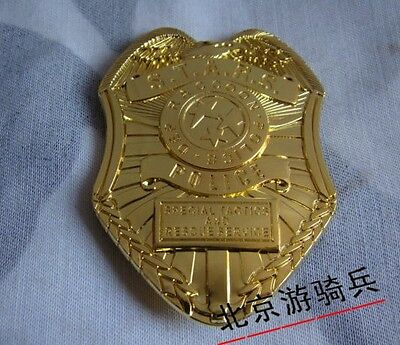 Resident Evil Biohazard S.t.a.r.s. Stars Raccoon Police Dep Badge Golden-1987