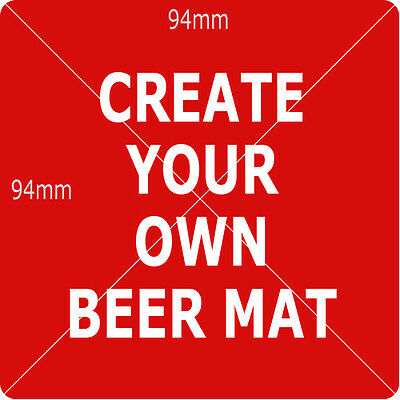 Personalised Beer Mats with images, messages, Personalised DOUBLE Side Mats