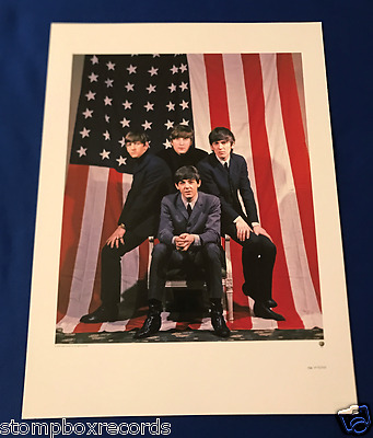 2009 The Beatles BOX SET LIMITED EDITION LITHO POSTER numbered Apple USA Flag