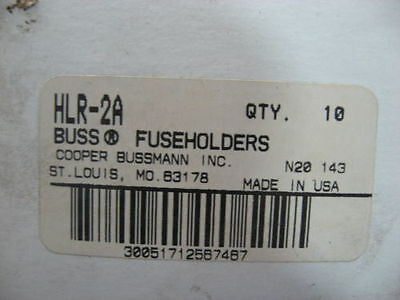 Box of 10 New Buss HLR-2A Fuseholders  FAST USA SHIPPING